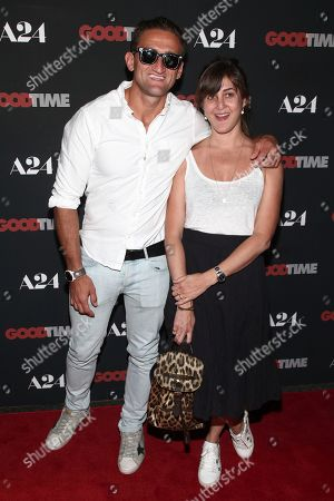 "Casey Neistat, Candice Pool Casey Neistat, left, and Candice Pool, right, attend the premiere of ""Good Time"" at the SVA Theatre, in New York"