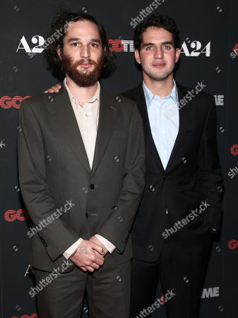 """Josh Safdie, Benny Safdie Josh Safdie, left, and Benny Safdie, right, attend the premiere of """"Good Time"""" at the SVA Theatre, in New York"""