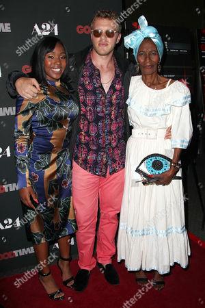 Taliah Webster, Sebastian Bear-McClard (Producer) and Gladys Mathon