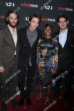 Joshua Safdie, Robert Pattinson, Taliah Webster and Ben Safdie