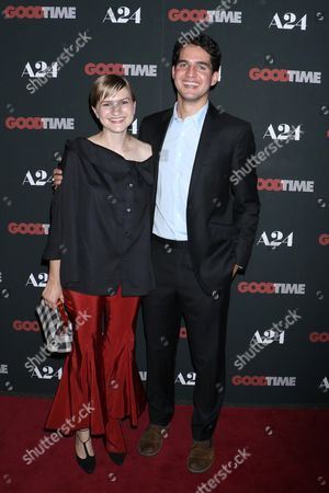 Stock Picture of Ben Safdie (Co-Director) with wife Ava Safdie