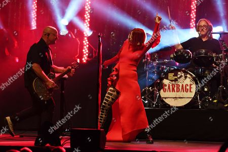 Stock Photo of Steve Marker, Shirley Manson, Butch Vig