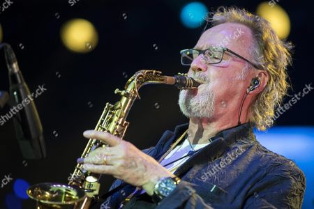 Editorial photo of Leslie Mandoki in concert in Budapest, Hungary - 08 Aug 2017