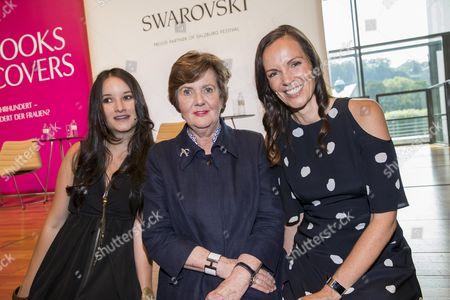 .. Anna Prohaska mit Helga Rabl-Stadler and Brita Fernandez Schmidt