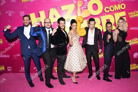 (L to R) Ariel Levi, Nicolas Lopez, Alfonso Dosal, Aislinn Derbez, Mauricio Ochmann, Ignacia Allamand