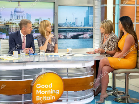 Jeremy Kyle and Kate Garraway with Sue Hill and Jacqui Ryland