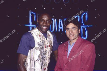 International Gladiators. Presenters John Fashanu and Mike Adamle. 13/08/94