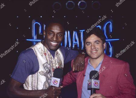 International Gladiators. Presenters Johan Fashanu and Mike Adamle. 13/08/94