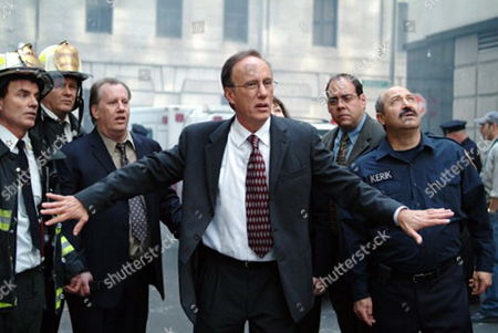 'Rudy: The Rudy Giuliani Story'  TV Film - Rudolph 'Rudy' Giuliani (James Woods) with  his two aides Sam (Michael Woods) and Tony Carbonetti (Mark Camacho)