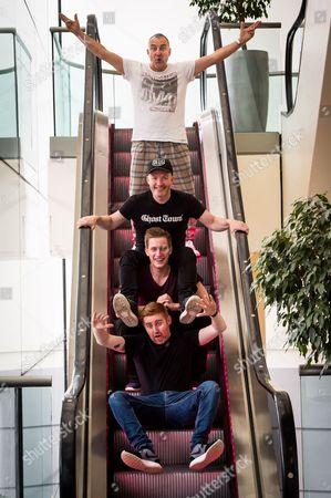 Comedians Jimeion, Craig Hill, Daniel Sloss and Gareth Waugh at the EICC
