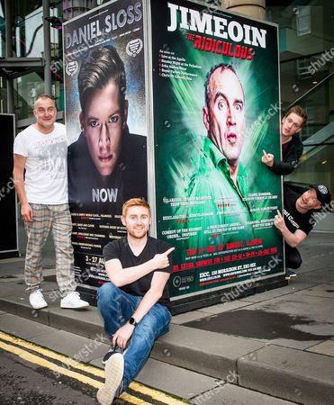 Comedians Jimeion, Gareth Waugh, Daniel Sloss and Craig Hill at the EICC