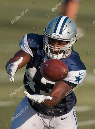 Stock Picture of Dallas Cowboys linebacker (43) Joseph Jones goes through his linebacker drills during practice on in Oxnard, California. (Mandatory Credit: Juan Lainez / MarinMedia.org / Cal Sport Media) (Complete photographer, and credit required)