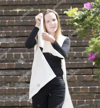 Katy Anne Bethel leaves court today found guilty with the People Smuggling of 12 Vietnamese illegal immigrants at the Chanel Tunnel 2 years ago. She was pregnant at the time of the offence.