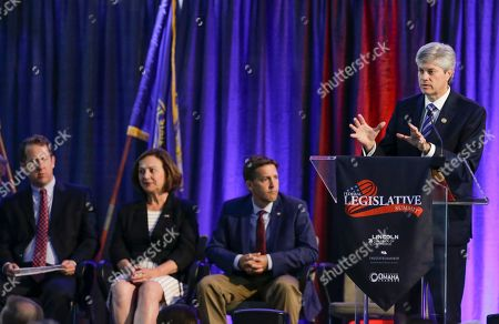 Ben Sasse, Adrian Smith, Deb Fisher, Jeff Fortenberry Rep. Jeff Fortenberry, R-Neb., speaks during a legislative summit featuring Nebraska's elected Congressional and House officials, from left: Rep Adrian Smith, R-Neb., Senator Deb Fisher, R-Neb., and Senator Ben Sasse, R-Neb., in Ashland, Neb., . The annual event, held at the Strategic Air Command & Aerospace Museum, is sponsored by the Lincoln, Neb., Chamber of Commerce