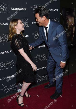 """Ella Anderson, Destin Daniel Cretton Actress Ella Anderson, left, and director Destin Daniel Cretton attend the premiere of """"The Glass Castle"""" at the SVA Theatre, in New York"""