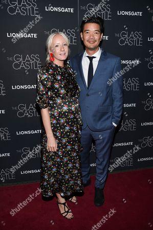 """Director Destin Daniel Cretton and guest attend the premiere of """"The Glass Castle"""" at the SVA Theatre, in New York"""