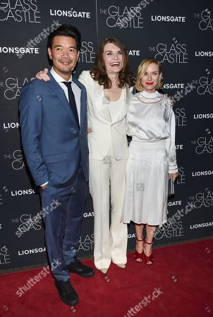 "Destin Cretton, Jeannette Walls, Naomi Watts Director Destin Cretton, left, author Jeannette Walls and actress Naomi Watts attend the premiere of ""The Glass Castle"" at the SVA Theatre, in New York"