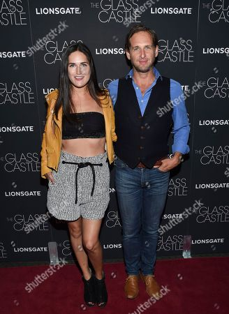 """Jessica Ciencin Henriquez, Josh Lucas Actor Josh Lucas and ex-wife Jessica Ciencin Henriquez attend the premiere of """"The Glass Castle"""" at the SVA Theatre, in New York"""