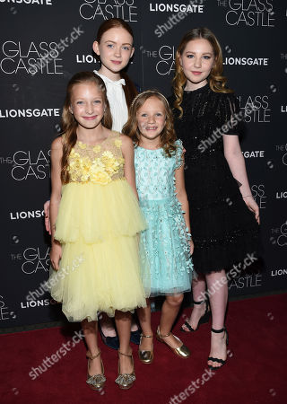 "Olivia Kate Rice, Sadie Sink, Chandler Head, Ella Anderson Olivia Kate Rice, from left, Sadie Sink, Chandler Head and Ella Anderson attend the premiere of ""The Glass Castle"" at the SVA Theatre, in New York"