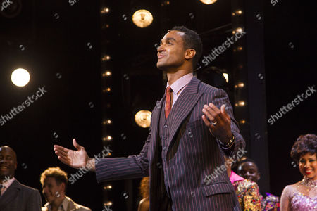 Stock Picture of Joe Aaron Reid (Curtis Taylor Jr) during the curtain call