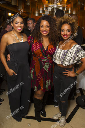 Liisi LaFontaine (Deena Jones), Marisha Wallace (Effie White and Asmeret Ghebremichael (Lorrell Robinson)