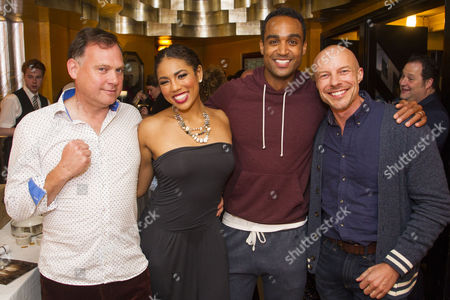 Stock Image of Paddy O'Connell, Liisi LaFontaine (Deena Jones), Joe Aaron Reid (Curtis Taylor Jr) and Gary Williams