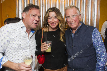 Paddy O'Connell, Suzi Perry and Johnnie Walker
