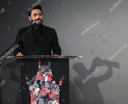 Editorial photo of Egyptian actor Tamer Hosny honored with cement ceremony in Hollywood, USA - 09 Aug 2017