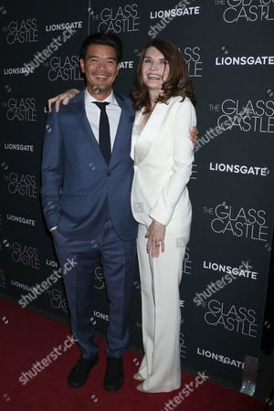 Stock Photo of Destin Cretton and Jeannette Walls