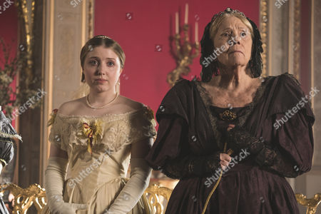 (Series 2, Episode 1) - Diana Rigg as Duchess of Buccleuch and Bebe Cave as Wilhelmina Coke.