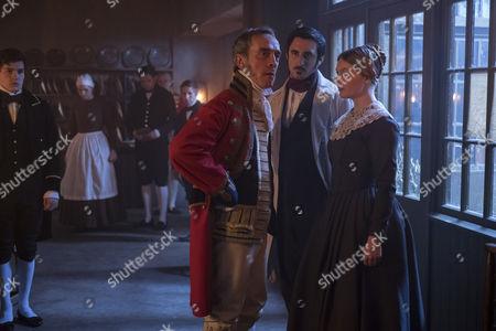 (SR2, Ep 1) - Adrian Schiller as Penge, Ferdinand Kingsley as Francatelli and Nell Hudson as Skerrett.