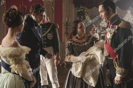 (Series 2, Episode 1) - Tom Hughes as Albert, Daniela Holtz as Lehzen and Alex Jennings as Leopold.