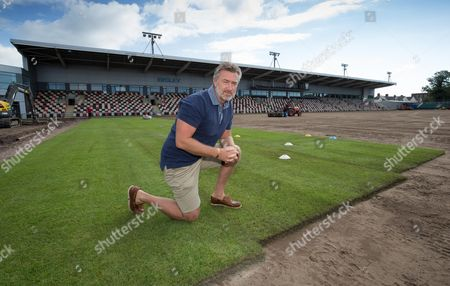 Mark Jones, Head of Operations at Rodney Parade as the new turf is installed at the ground