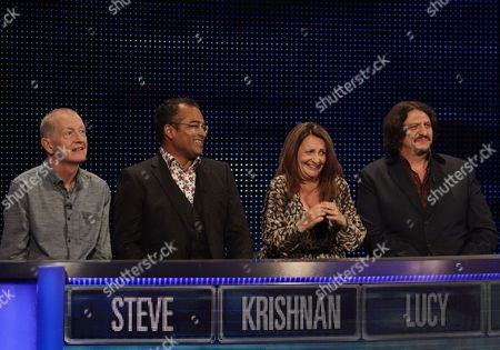 Sunday 20th August 2017  Pictured: Snooker legend Steve Davis, News Presenter Krishnan Guru-Murthy, comedian Lucy Porter and Food Critic Jay Rayner