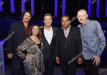 Sunday 20th August 2017  Pictured: Food Critic Jay Rayner, comedian Lucy Porter, host Bradley Walsh, News Presenter Krishnan Guru-Murthy and Snooker legend Steve Davis