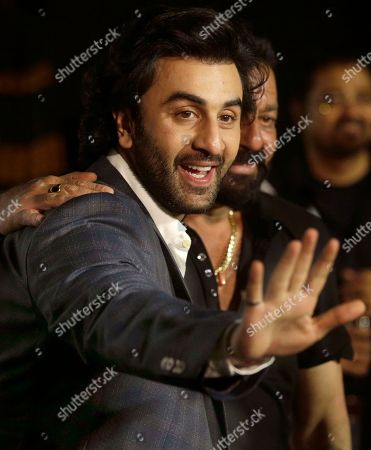 Bollywood actor Ranbir Kapoor waves as he arrives for the trailer launch of film Bhoomi in Mumbai, India, .The film is scheduled for release on September 22, 2017