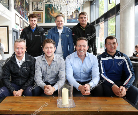 Stock Photo of (from L-R bottom row) co-director of Modest!, Ian Watts, music artist and co-director of Modest! Niall Horan, Chief Executive of The Richland Group The Gallery proprietor, Gary McCausland, Thriston Lawrence, (from L-R top row) Guido Migliozzi, co-director of Modest! Mark McDonell and Christiaan Bezuidenhout