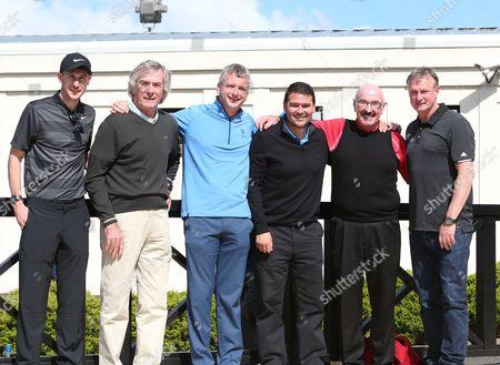 Michael Hoey, Pat Jennings, Joel Taggart, David Healy, Liam Beckett and Michael O'Neill