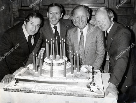 From L To R: Cliff Morgan David Coleman Frank Bough And Tony Gubba. Pictured At The International Sports Writers Club In Lindon To Celebrate 21 Years Of The Television Programme 'grandstand'.