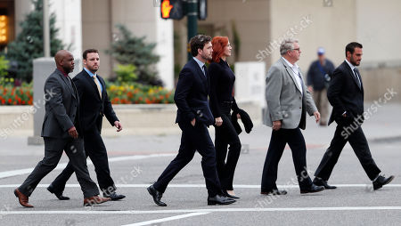 Austin Swift, Tree Paine Austin Swift, front center, brother of of pop singer Taylor Swift, walks with his sister's publicist, Tree Paine, across a street to attend the morning session of the the fourth day of a civil trial to determine whether a Denver radio host groped the singer in a case in federal court, in Denver. Former DJ David Mueller sued Swift after she said he touched her backside before a concert in Denver in 2013. He's seeking at least $3 million. Swift countersued for sexual assault and is seeking $1