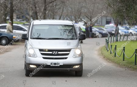 The vehicle that is said to transports Dutch Queen Maxima and her husband King Willem-Alexander of The Netherlands arrives for the funeral of Maxima's father, Jorge Zorreguieta at the Memorial Cemetery in Pilar, Buenos Aires province, Argentina, 10 August 2017. Jorge Zorreguieta died on 08 August in a private sanatorium at age 89, after suffering from 'a longstanding form of non-Hodgkin's lymphoma,' according to the Information Service State of The Netherlands in a statement.