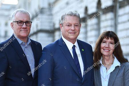 David Linde, Al Gore and Diane Weyermann