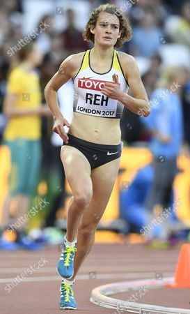 Alina Reh of Germany competes in the women's 5,000m Heats at the London 2017 IAAF World Championships in London, Britain, 10 August 2017.