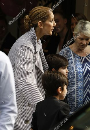 Celine Dion and sons Nelson Angelil and Eddy Angelil