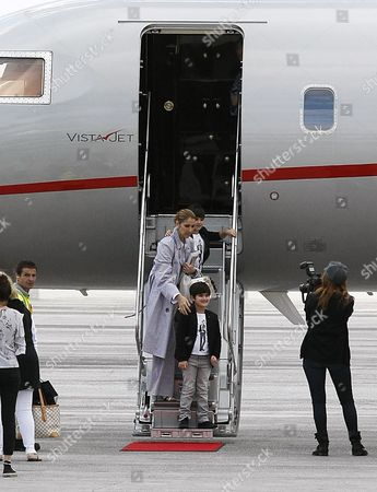 Editorial photo of Celine Dion at Charles de Gaulle Airport, Paris, France - 10 Aug 2017
