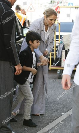 Stock Photo of Celine Dion and son Nelson Angelil