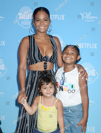 Christina Milian, daughter Violet Madison Nash and friend