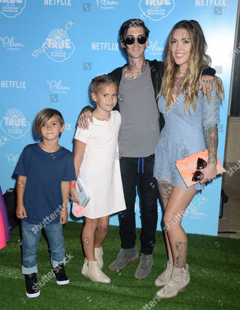 Kyle Loza, Casey Patridge with children Sam Loza and Sadie Loza