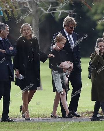 Dutch Queen Maxima Zorreguieta (2-L), and her husband, King Guillermo Alexander (2-R), attend the funeral of Jorge Zorreguieta in the Memorial Cemetery of the locality of Pilar, Province of Buenos Aires, Argentina, 10 August 2017. Zorreguieta, father of Queen Maxima of the Netherlands, died on 08 August 2017, at age 89.