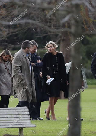 Dutch Queen Maxima Zorreguieta (C), and her husband, King Guillermo Alexander (out of frame), attend the funeral of Jorge Zorreguieta in the Memorial Cemetery of the locality of Pilar, Province of Buenos Aires, Argentina, 10 August 2017. Zorreguieta, father of Queen Maxima of the Netherlands, died on 08 August 2017, at age 89.